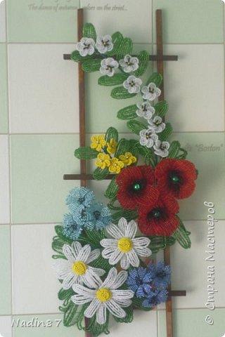 """панно """"Полевые цветы"""" фото 1"""