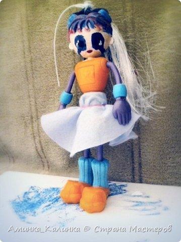 Я решила провести эксперимент с этой куклой...Вот была: фото 3