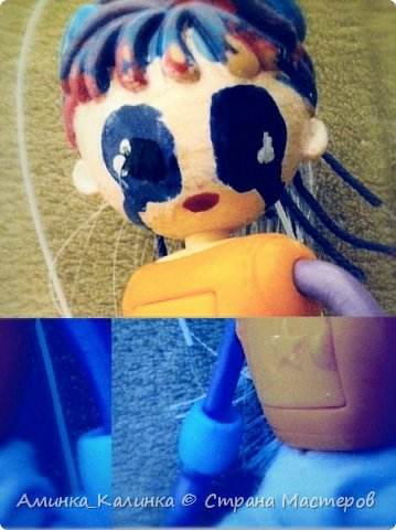 Я решила провести эксперимент с этой куклой...Вот была: фото 6