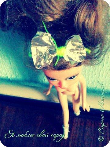 Вчера не было чего делать,придумала сделать обруч для куклы.Оцените.