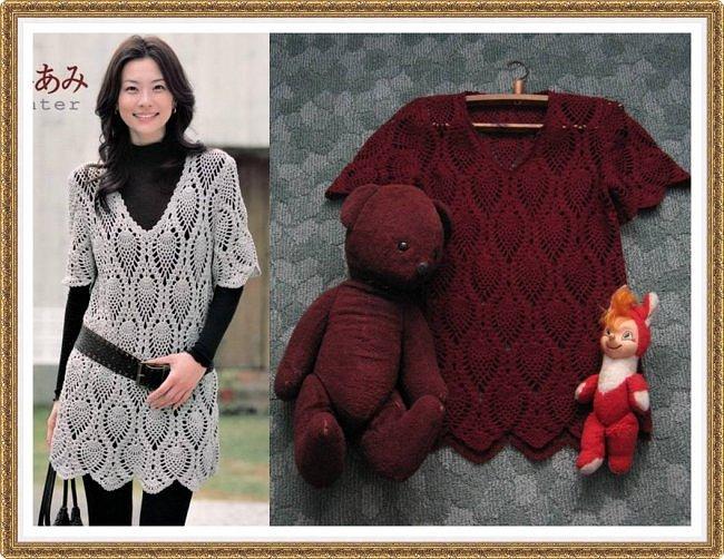 Очень люблю японские журналы за четкие красивые схемы и спокойные изящные модели. Моя любимая кофточка позапрошлого сезона. И любимые игрушки детства, медведь еще мамин, родилась она в 1951.  Связана по журналу Let's knit series