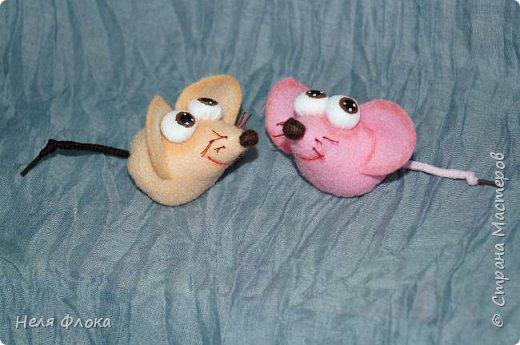Маленькие мышки из фетра фото 1