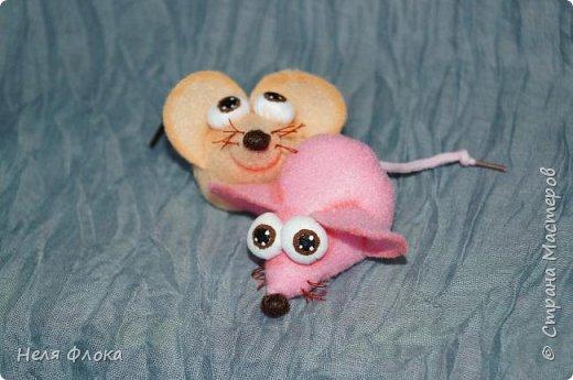 Маленькие мышки из фетра фото 2