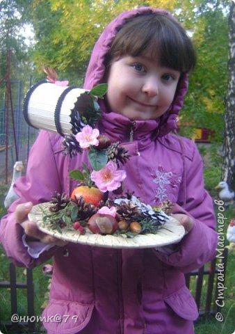 Вот такой бочоночек мы решили сделать к празднику осени в садик. фото 3