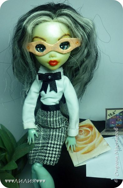 Решила из Маргоши сделать деловую даму)даже попробовала сделать очки,а насколько хорошо у меня удался образ судить вам)Фото будет много) фото 8