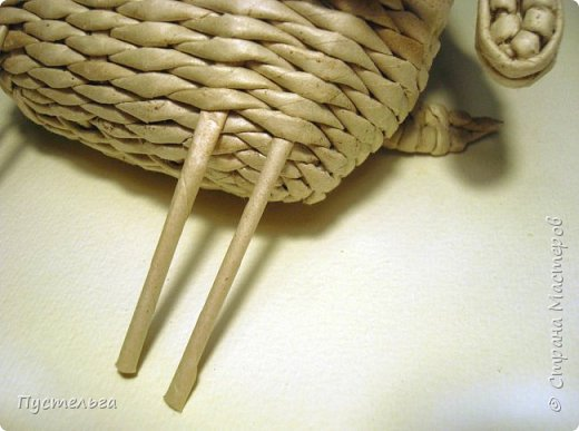 Мастер-класс Поделка изделие Плетение Барашек Бумага Трубочки бумажные фото 19