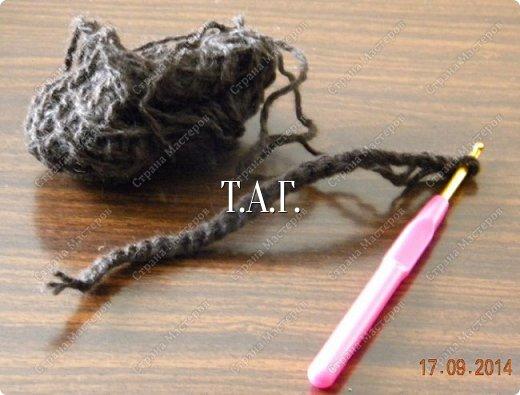 Мастер-класс Поделка изделие Новый год Вязание Вязание крючком Облачко на ножках бегает по дорожке  Бусины Клей Нитки Пряжа фото 19