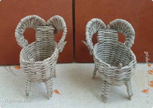 Мастер-класс Поделка изделие Плетение Барашек Бумага Трубочки бумажные фото 4