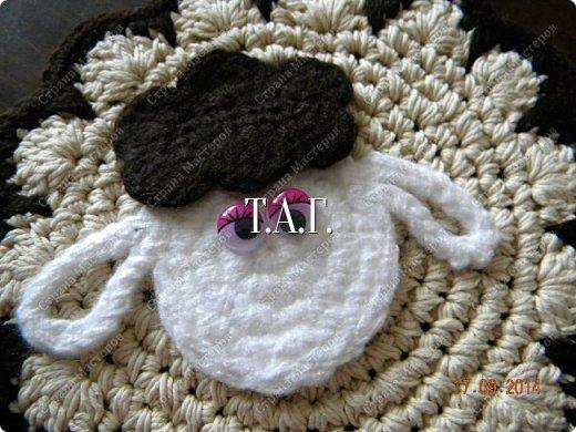 Мастер-класс Поделка изделие Новый год Вязание Вязание крючком Облачко на ножках бегает по дорожке  Бусины Клей Нитки Пряжа фото 28