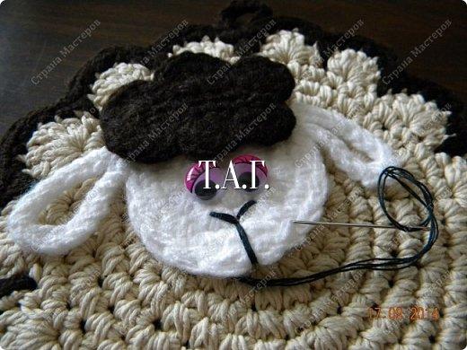 Мастер-класс Поделка изделие Новый год Вязание Вязание крючком Облачко на ножках бегает по дорожке Бусины Клей Нитки Пряжа фото 30