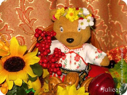 """Здравствуйте, дорогие жители и гости """"Страны Мастеров""""! Давно не виделись)  С удовольствием представляю Вашему вниманию мою последнюю работу - народный украинский костюм для моей любимой Мишутки Даринки. Надеюсь, что Вы уже знакомы с ней и ее уютным домиком. Если нет - Добро пожаловать в гости http://stranamasterov.ru/node/713606 фото 6"""