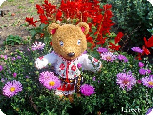 """Здравствуйте, дорогие жители и гости """"Страны Мастеров""""! Давно не виделись)  С удовольствием представляю Вашему вниманию мою последнюю работу - народный украинский костюм для моей любимой Мишутки Даринки. Надеюсь, что Вы уже знакомы с ней и ее уютным домиком. Если нет - Добро пожаловать в гости http://stranamasterov.ru/node/713606 фото 14"""