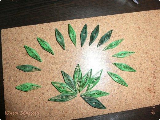 Мастер-класс Поделка изделие Квиллинг Схема изготовления листа винограда Бумага фото 7