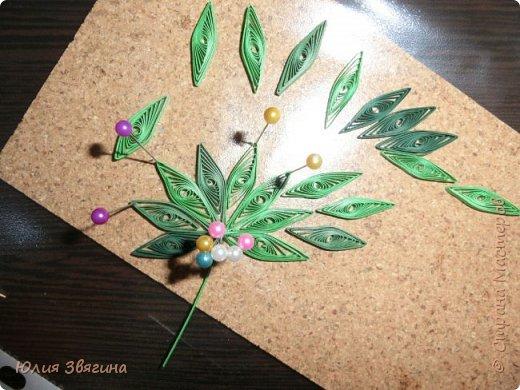 Мастер-класс Поделка изделие Квиллинг Схема изготовления листа винограда Бумага фото 11
