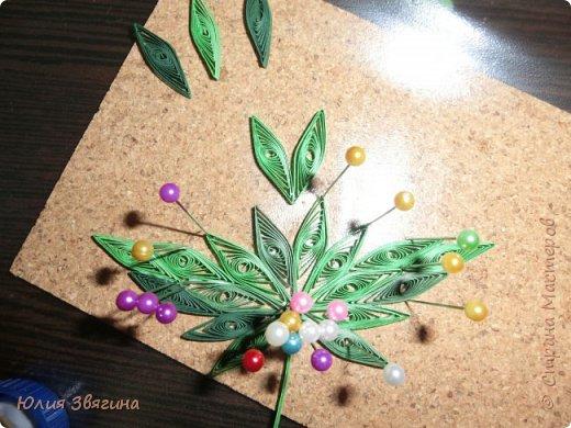 Мастер-класс Поделка изделие Квиллинг Схема изготовления листа винограда Бумага фото 12