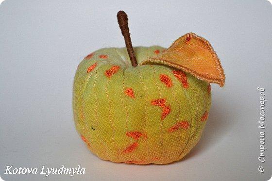 Поделки из ткани яблоко 56