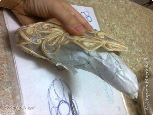 Мастер-класс Поделка изделие Моделирование конструирование Филигранная рыбка Клей Шпагат фото 15