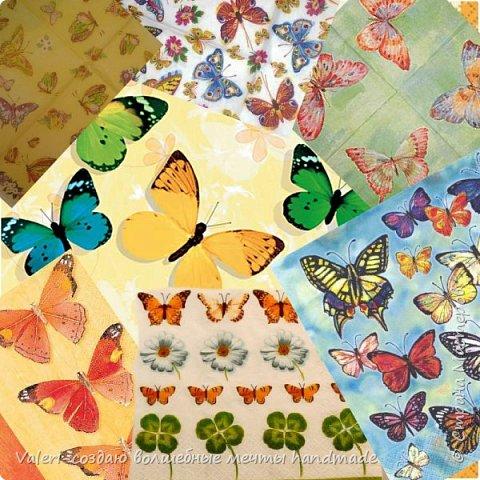 Мастер-класс Поделка изделие Декупаж Декупажные объёмные бабочки Бутылки пластиковые Краска Салфетки фото 3