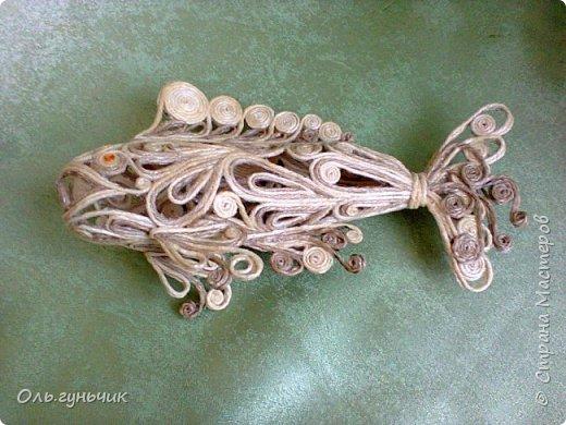 Мастер-класс Поделка изделие Моделирование конструирование Филигранная рыбка Клей Шпагат фото 30