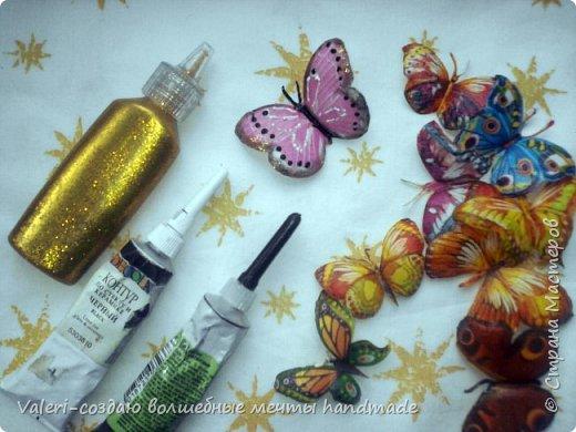 Мастер-класс Поделка изделие Декупаж Декупажные объёмные бабочки Бутылки пластиковые Краска Салфетки фото 11