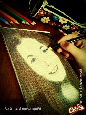 Решила нарисовать подругу:) фото 3