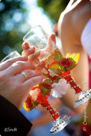 Свадебные бокалы, шампанское фото 11