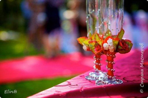 Свадебные бокалы, шампанское фото 12