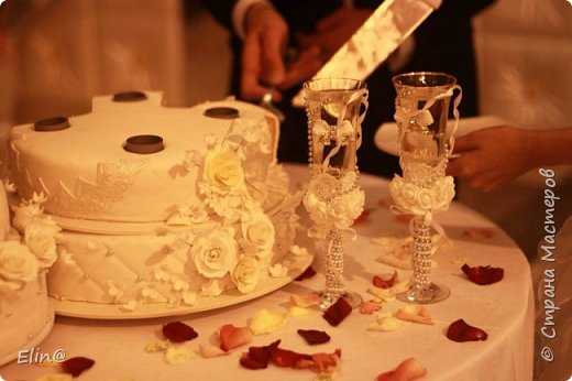 Свадебные бокалы, шампанское фото 13