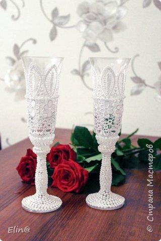 Свадебные бокалы, шампанское фото 14