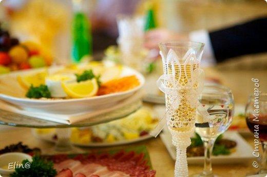 Свадебные бокалы, шампанское фото 15