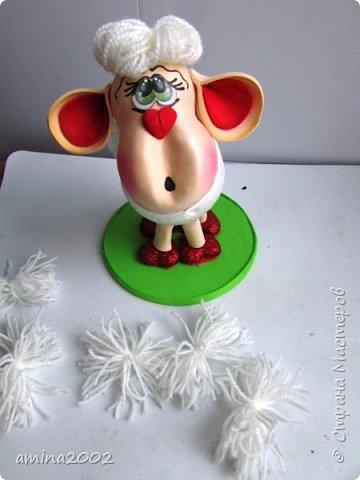 """Добрый вечер! Предлагаю вам МК по созданию символа 2015 года-Овечка. Сделать овечку совсем несложно, но она достаточно """"эффектная"""".  фото 14"""