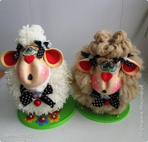 """Добрый вечер! Предлагаю вам МК по созданию символа 2015 года-Овечка. Сделать овечку совсем несложно, но она достаточно """"эффектная"""".  фото 1"""