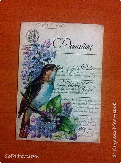 моя первая открытка в стиле шебби шик))очень жду ваших коментариев фото 9