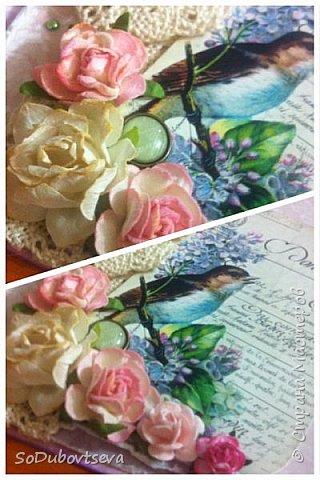 моя первая открытка в стиле шебби шик))очень жду ваших коментариев фото 16