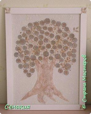 Добрый день, дорогие жители Страны мастеров! Попробовала на этот раз сделать дерево в светлых тонах (под обстановку комнаты подруги).  фото 2