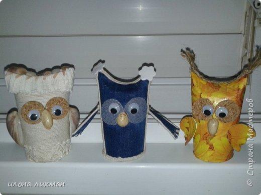 """Вся Страна заселена совами вот и мне захотелось...У меня простенькие,  из """" туалетных"""" рулончиков но каждая разная.  фото 1"""