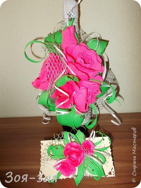 Этими бутылочками с горячительными напитками мы поздравляли наших музчин с 23 февраля.)))Внутри цветочка-конфетка(закусь))))) фото 12