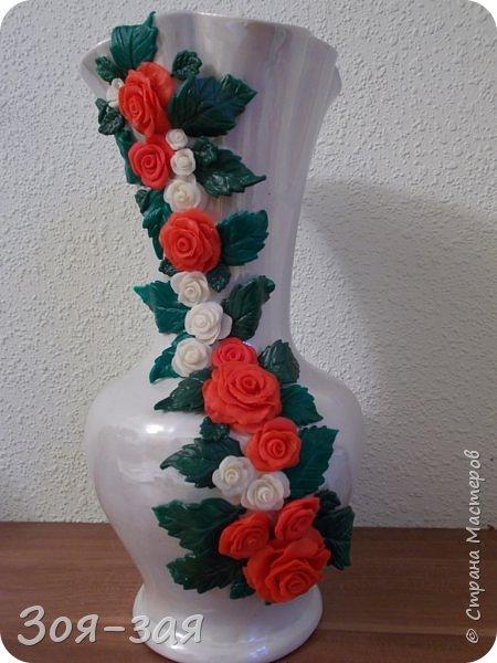 Этой вазе я дала вторую жизнь, у неё на верху был скол и трещина. фото 4