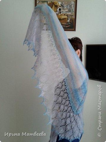 """Это шаль с каймой  дизайна Т. Гобрусевой  """" Июльский дождь"""". фото 2"""
