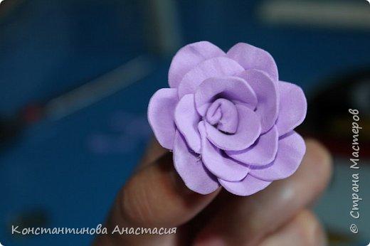 Бонсай топиарий Мастер-класс Розочка из фома МК+Топиарий Ленты Фоамиран фом фото 32