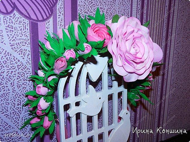 Венок на голову. Цветы из фоамирана.  фото 2