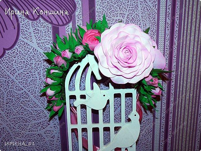 Венок на голову. Цветы из фоамирана.  фото 4