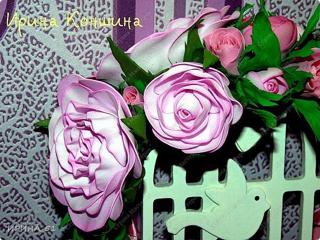 Венок на голову. Цветы из фоамирана.  фото 3