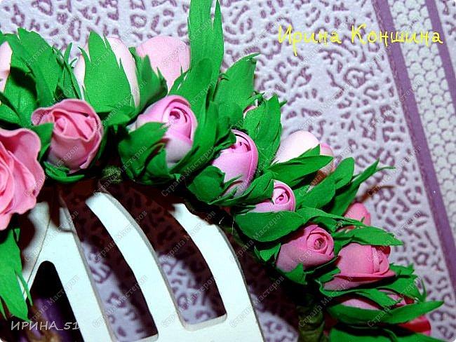 Венок на голову. Цветы из фоамирана.  фото 5
