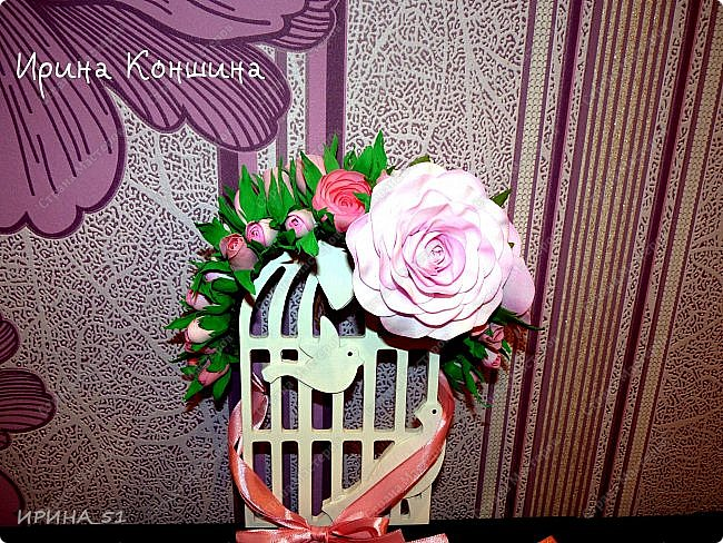 Венок на голову. Цветы из фоамирана.  фото 8