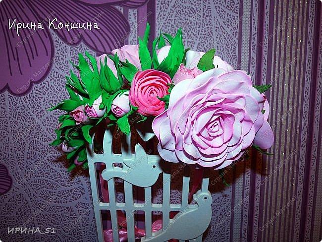 Венок на голову. Цветы из фоамирана.  фото 9