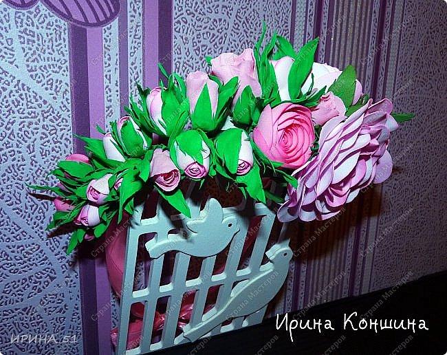 Венок на голову. Цветы из фоамирана.  фото 10