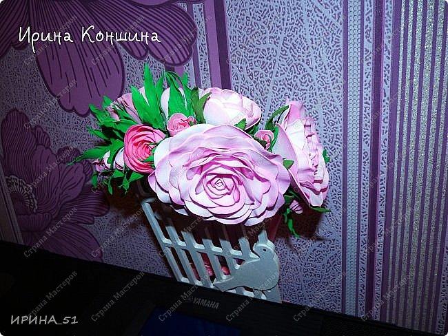Венок на голову. Цветы из фоамирана.  фото 11