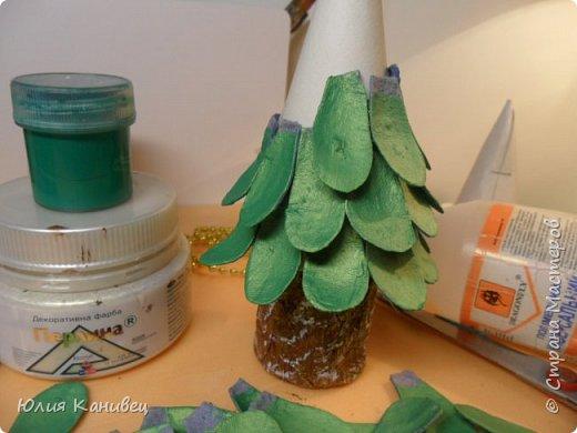 Мастер-класс Новый год Моделирование конструирование Новогодние ёлочки-домики фото 13