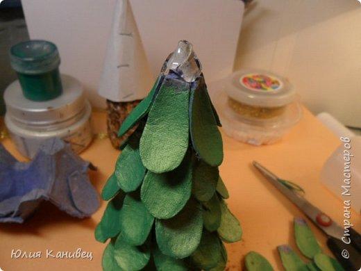 Мастер-класс Новый год Моделирование конструирование Новогодние ёлочки-домики фото 14